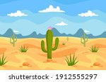 Pattern Drawing Cactus In...