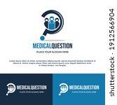 medical question vector logo... | Shutterstock .eps vector #1912566904