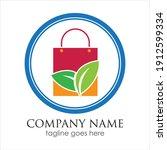 shopping logo vector design... | Shutterstock .eps vector #1912599334