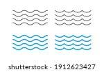 sea wave icon set. water logo ... | Shutterstock .eps vector #1912623427