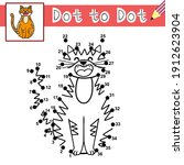 connect the dots and draw a... | Shutterstock .eps vector #1912623904