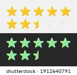 stars rating icons set 3d...