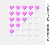 vector 3d pink violet hearts...