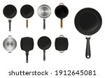 set of frying pan kitchen... | Shutterstock .eps vector #1912645081
