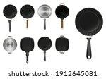 set of frying pan kitchen...   Shutterstock .eps vector #1912645081