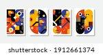 poster postmodern inspired... | Shutterstock .eps vector #1912661374