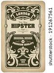 vintage ornamental floral card... | Shutterstock .eps vector #191267561