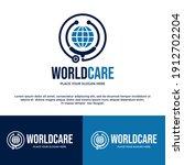 world care vector logo template....   Shutterstock .eps vector #1912702204