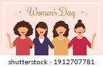 march 8th international women's ... | Shutterstock .eps vector #1912707781