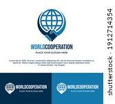 world cooperation vector logo...   Shutterstock .eps vector #1912714354