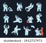astronaut. cartoon spaceman in... | Shutterstock .eps vector #1912727971
