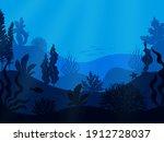 Underwater Seabed. Deep Ocean...