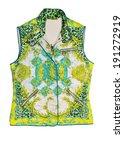 floral print vest | Shutterstock . vector #191272919