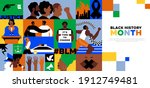 black history month template ... | Shutterstock .eps vector #1912749481