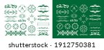 antique decorative materials ... | Shutterstock .eps vector #1912750381