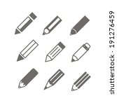 Pencil Icons Vector Set