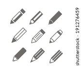 Pencil Icons Vector Set