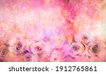 abstract floral watercolor... | Shutterstock . vector #1912765861