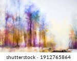 abstract oil painting winter... | Shutterstock . vector #1912765864