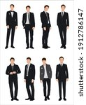 vector of young businessman...   Shutterstock .eps vector #1912786147