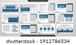 business presentation layout...   Shutterstock .eps vector #1912786534