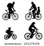 recreational bicyclists...   Shutterstock .eps vector #191279195