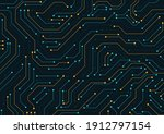 electronic circuit board close... | Shutterstock .eps vector #1912797154