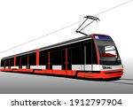 city transport. tram. colored...   Shutterstock . vector #1912797904