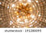 golden bokeh from crystal...   Shutterstock . vector #191280095