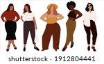 vector illustration of curvy ... | Shutterstock .eps vector #1912804441