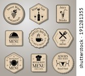 restaurant menu food and drinks ... | Shutterstock .eps vector #191281355