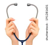 medical background with hands... | Shutterstock . vector #191281601