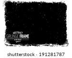 grunge frame. vector template | Shutterstock .eps vector #191281787