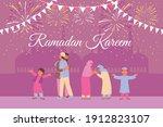 ramadan card with temple...   Shutterstock .eps vector #1912823107