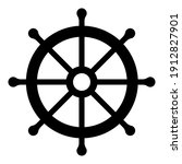 ship steering wheel icon on a... | Shutterstock .eps vector #1912827901