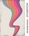 colorful wavy lines  vintage... | Shutterstock .eps vector #1912829254