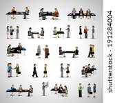business people   isolated on...   Shutterstock .eps vector #191284004