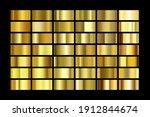 set of gold foil texture...