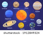 set of planets of the solar...   Shutterstock .eps vector #1912849324