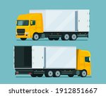 cargo truck two angle set....   Shutterstock .eps vector #1912851667