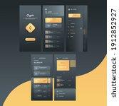 crypto mobile app ui screens...