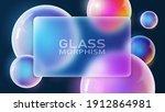 vector. glass morphism style.... | Shutterstock .eps vector #1912864981
