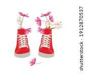 Pair Of Red Simple Gumshoes...