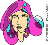 colorful woman portrait... | Shutterstock .eps vector #1912872394