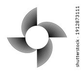 lines in circle form . spiral... | Shutterstock .eps vector #1912873111