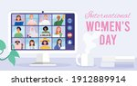 international women's day.... | Shutterstock .eps vector #1912889914