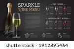 wine restaurant menu design...   Shutterstock .eps vector #1912895464