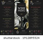 wine menu design with alcohol... | Shutterstock .eps vector #1912895524
