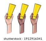 hand holiding cream bottle... | Shutterstock .eps vector #1912916341