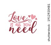 valentine's day card with...   Shutterstock .eps vector #1912920481